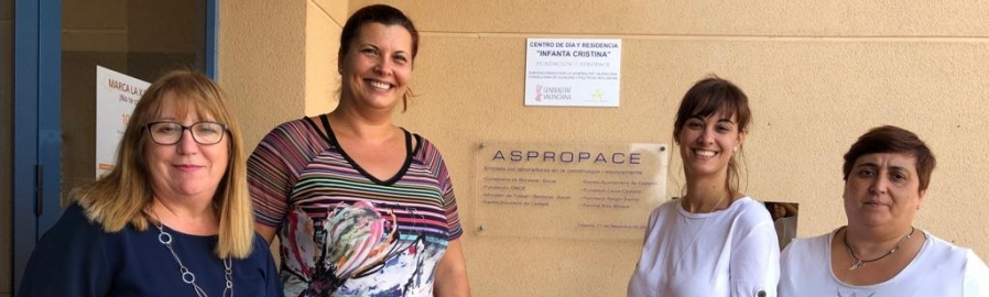 Puerta es reuneix amb Aspropace per millorar la qualitat de vida dels xiquets amb paràlisi cerebral