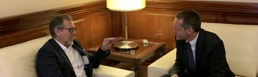 José Martí rep la visita de José Luis Boix, conseller delegat de XIOB Grup i Civicons