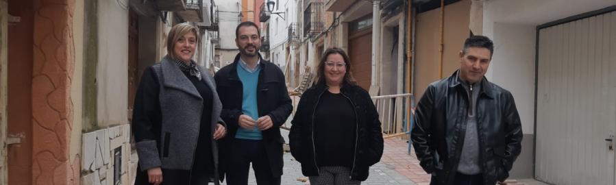 Ximo Huguet visita les obres realitzades amb càrrec al Pla 135 a Càlig, Xert i la Jana