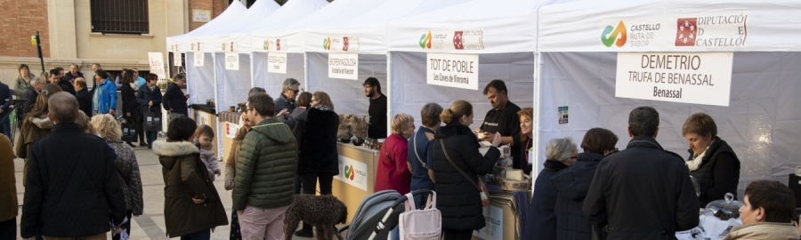 El Mercat de la Trufa torna a Castelló el dissabte amb els millors productes gastronòmics de la província