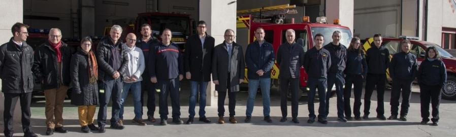 José Martí destaca en Morella la gran capacidad tecnológica del parque de bomberos voluntarios