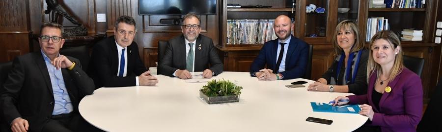 Las diputaciones de Castelló, València, Tarragona, Barcelona, Lleida y Girona se reúnen para reclamar el impulso del Corredor del Mediterráneo