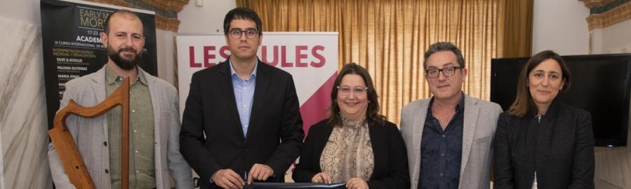 El prestigiós festival de música medieval 'Early Music Morella' es presenta a Castelló i suma la Diputació com a col·laborador
