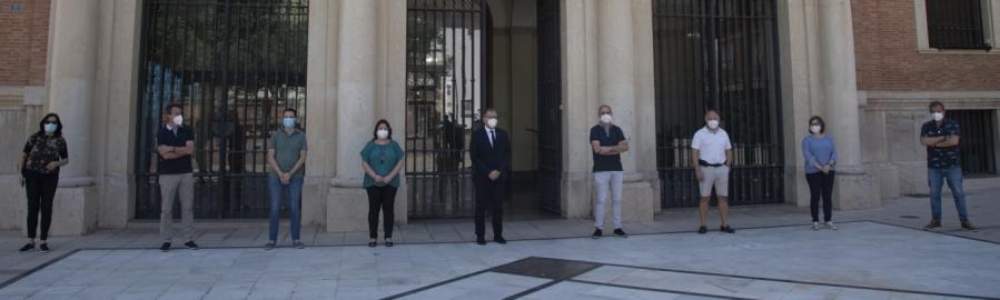 La Diputació Provincial de Castelló guarda un minut de silenci en memòria de les víctimes per la COVID-19 i se suma als deu dies de dol