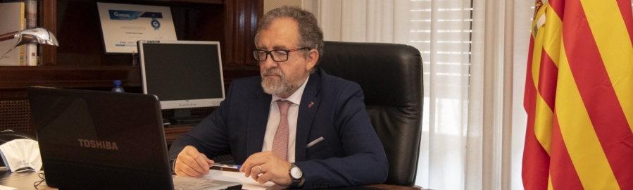 Diputació i Telefónica defensen la necessitat de potenciar la fibra òptica a la província i acabar amb la bretxa digital per a fer front al repte demogràfic