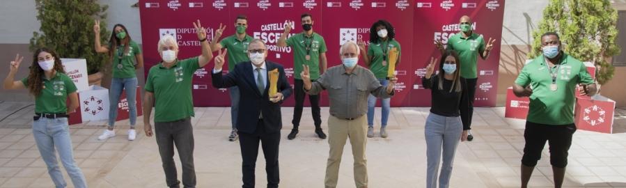 José Martí rep al Platges de Castelló amb motiu dels seus èxits en la Copa d'Espanya i el Campionat d'Espanya d'atletisme