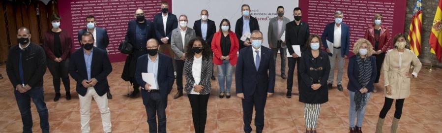 José Martí destaca los 4,2 millones invertidos en 2020 en el Baix Maestrat, «el año en el que la Diputación ha destinado más dinero que nunca a los municipios»