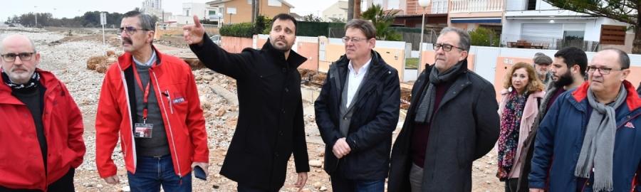 La Diputación aprueba 206.373 euros en ayudas para 38 ayuntamientos por la tormenta Gloria