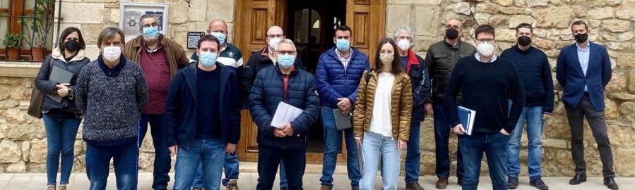 Garcia reúne a las alcaldías del nuevo consorcio del Pla de Meanes i Penyagolosa para avanzar en la gestión solidaria del agua en la provincia