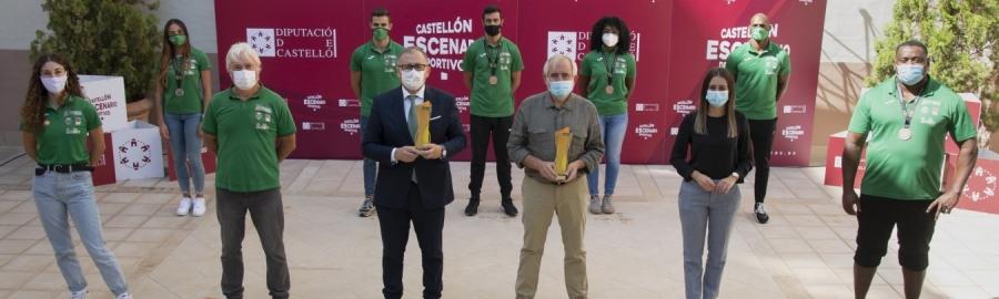 """""""La distinció al mèrit esportiu de la Diputació és un reconeixement a l'esforç d'atletes, entrenadors i directius del club per a fer del 'Playas de Castellón' un referent europeu"""""""