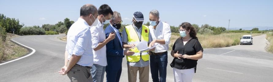 La Diputación invierte 220.000 euros en la mejora de la seguridad vial de la CV-101 que conecta Vinaròs con Alcanar