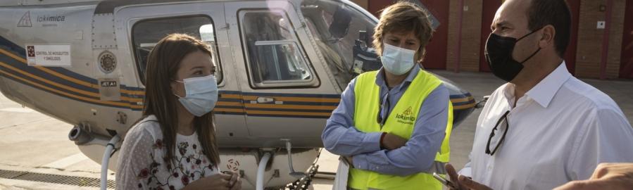 La Diputación activa un tratamiento aéreo de choque antimosquitos sobre 1.700 hectáreas de la provincia